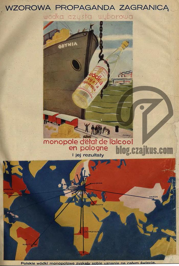 1931 Wyborowa Plakat Czajkus 700