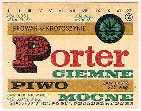 Browar wKrotoszynie Porter 1
