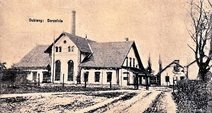 Dublany Gorzelnia Doświadczalna 1911 r.