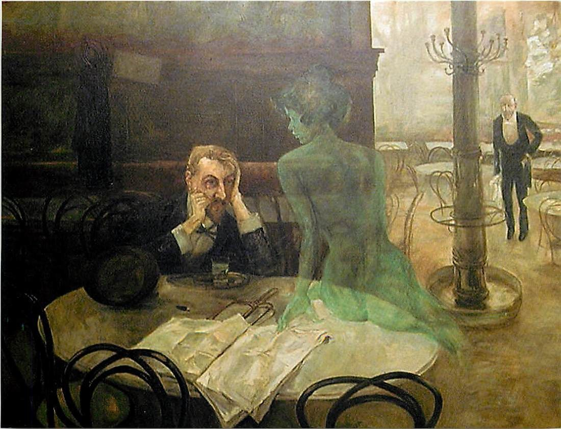 The Absinthe Drinker - Viktor Oliva