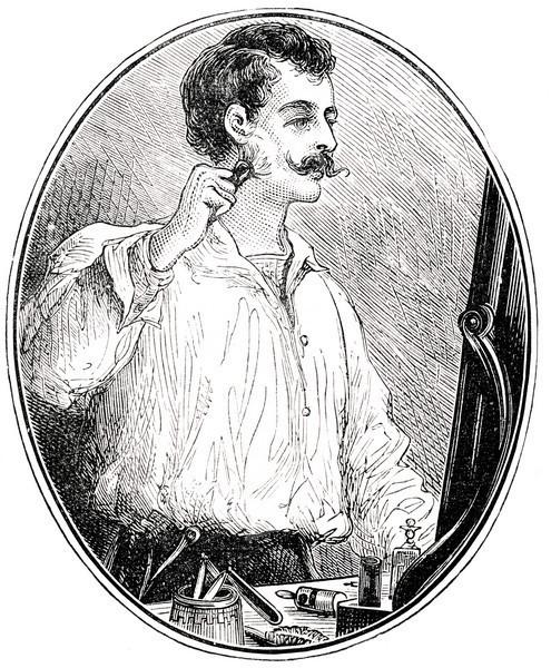 Victorian Man Shaving
