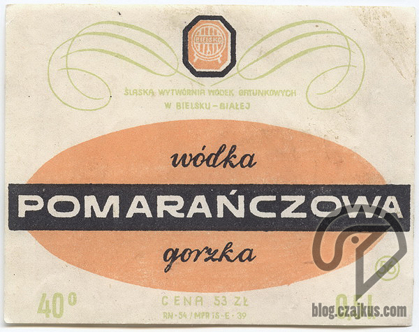 Wódka Pomarańczowa Gorzka W
