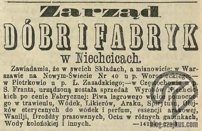 1874 Niechcice Destylarnia W