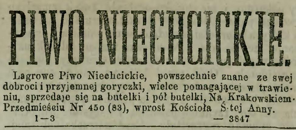 1874 - piwo nichcickie