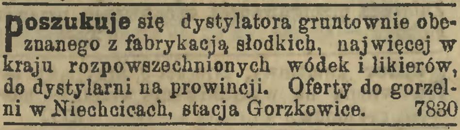 1895 - Dystylator poszukiwany