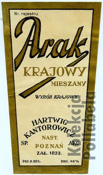 Arak krajowy mieszany Kantorowicz2W