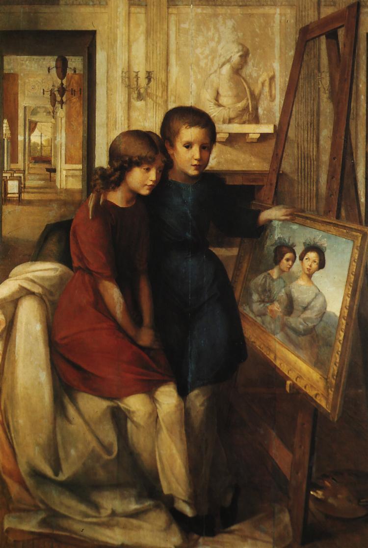 ''Portret Alfreda iAdama Potockich'', 1832, olej nadesce, Muzeum Narodowe, Warszawa