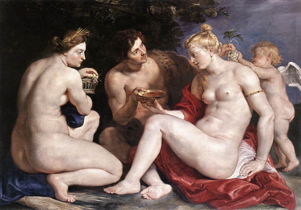 Wenus, Amor, Ceres iBachus Peter Paul Rubens