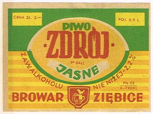 Browar Ziębice Piwo Jasne Zdrój
