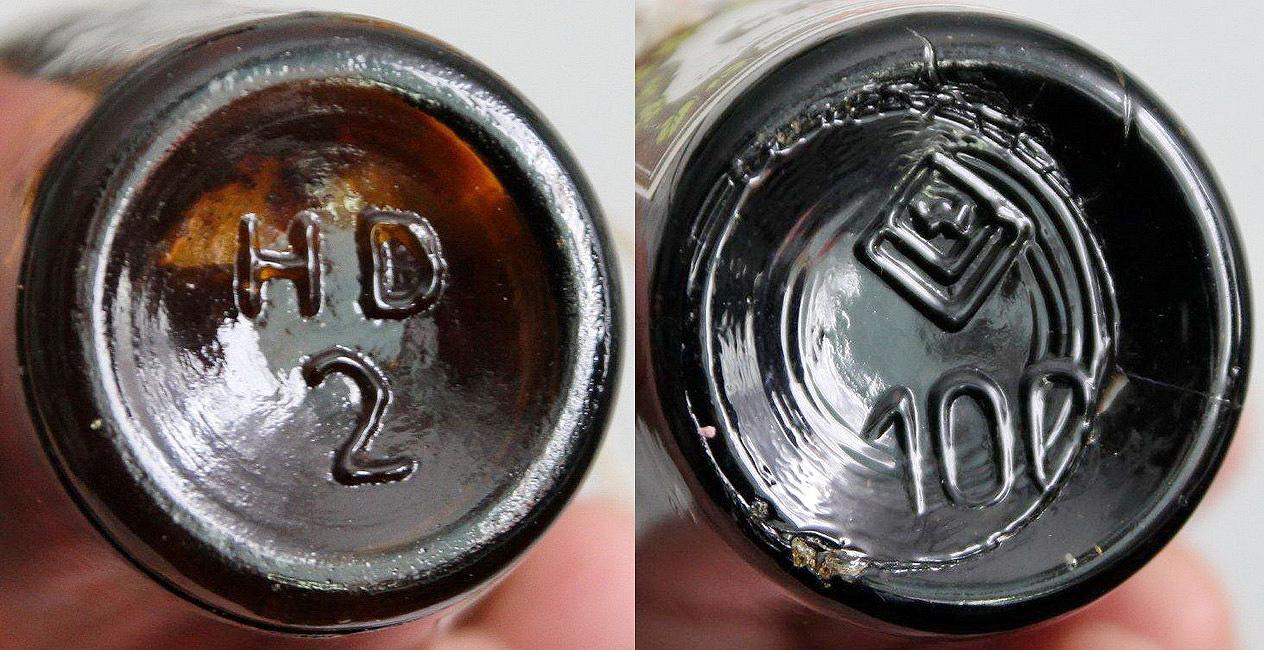 Denka butelek odWin cechowanie Huta szkła wDziałdowie iwWołczynie W