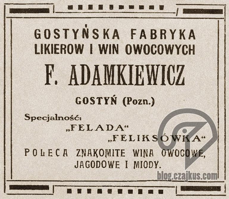Adamkiewicz F., Gostyń - 1922 r