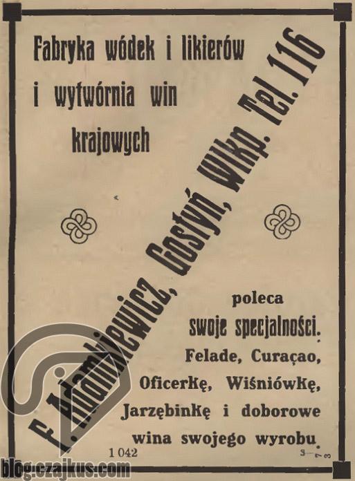 Adamkiewicz F., Gostyń, Wlkp 1925W
