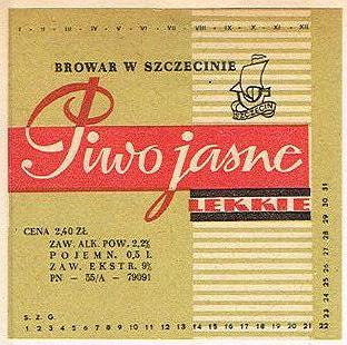 Browar wSzczecinie - Piwo Jasne Lekkie