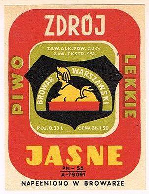 Browar Warszawski - Piwo Jasne Lekkie Zdrój