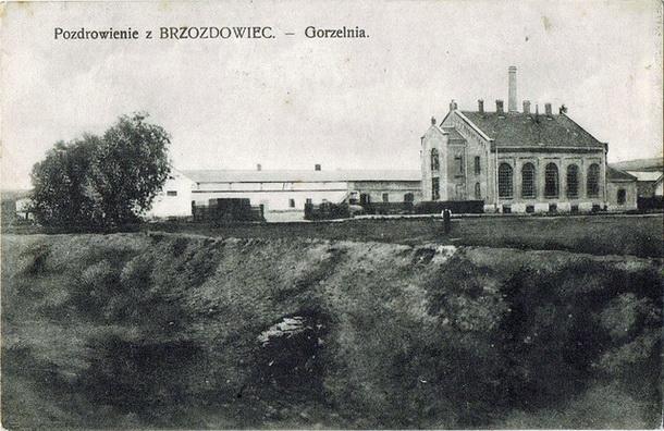 Gorzelnia wBrzozdowcach - pocztówka z1915, wyd. Saul Berek. The distillery, postcard, published bySaul Berek - 610
