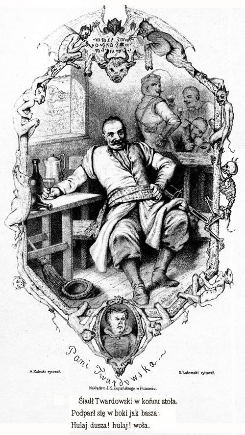 Pan Twardowski - XIX w. - drzeworyt