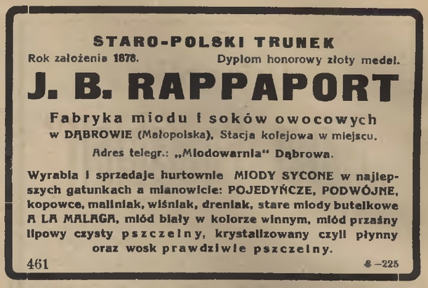 Rappaport J. B., Dąbrowa (Małopolska) 610