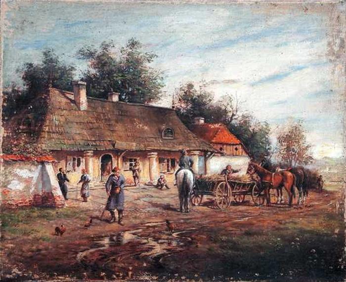 Władysław Szerner ''Przed karczmą''
