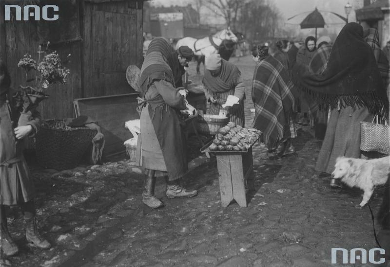 1927 Sprzedaż pączków napl.Kercelego (Kercelaku).Warszawa2