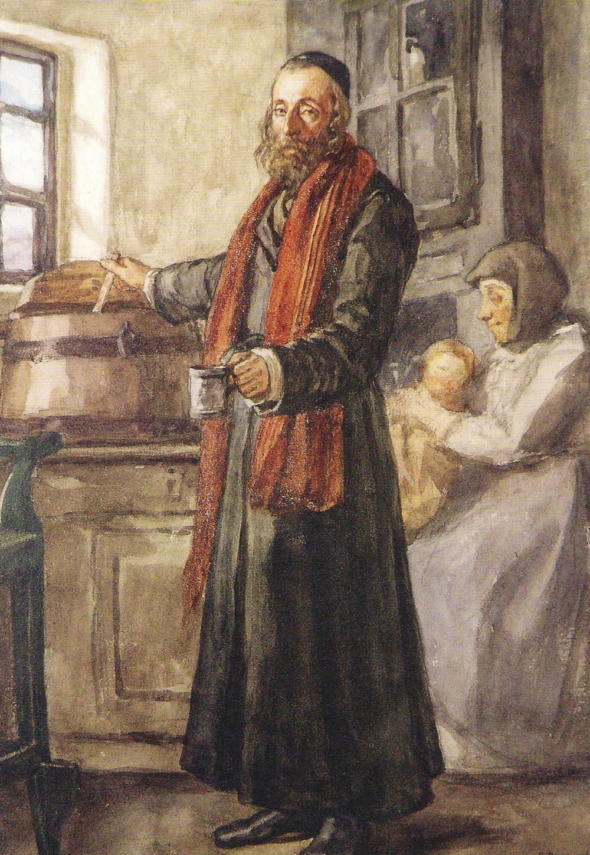 Henryk Rodakowski - ''Karczmarz Jasio'', zcyklu Album Pałahickie, 1867, akwarela napapierze, 32 x 23 cm, Muzeum Lubuskie, Gorzów Wielkopolski