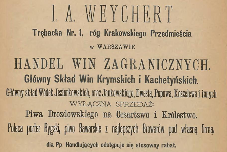 1894 I. A. Weychert Sprzedaż Koszelew