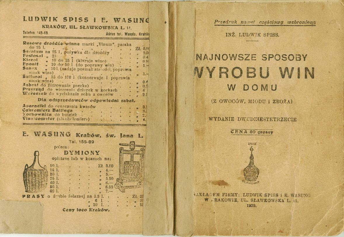 Ludwik Spiss - Wyrób win 1939 r. - 01