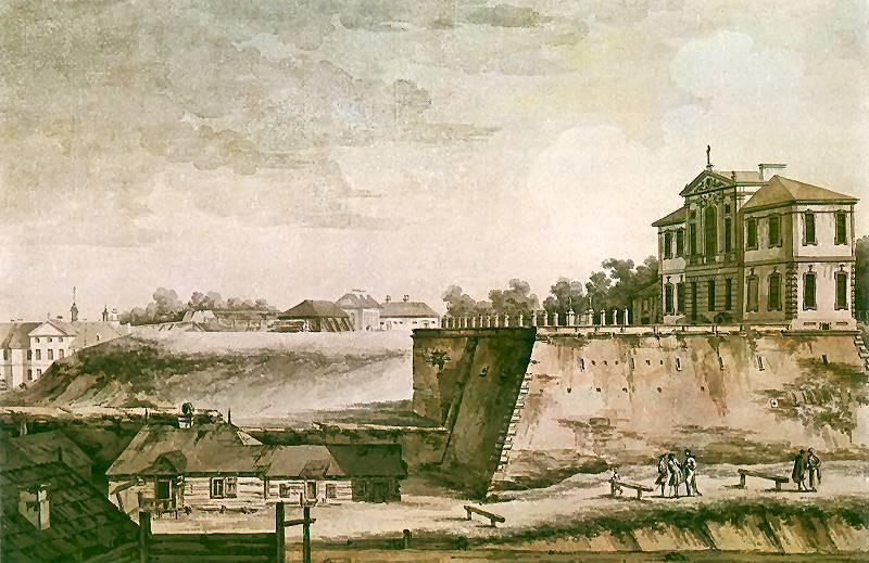 Zygmunt Vogel, Widok pałacu Ordynackiego iklasztoru św.Kazimierza, 1785