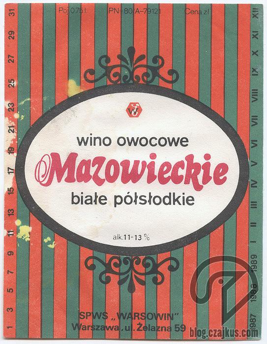 Warsowin Wino owocowe Mazowieckie W