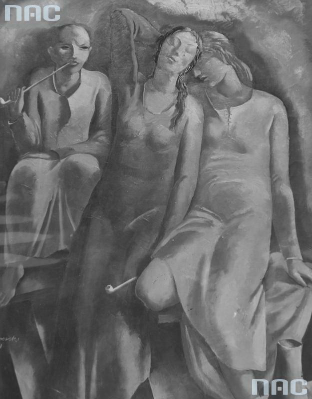 1932 Obraz artysty malarza Wacława Borowskiego ''Narkotyk''.