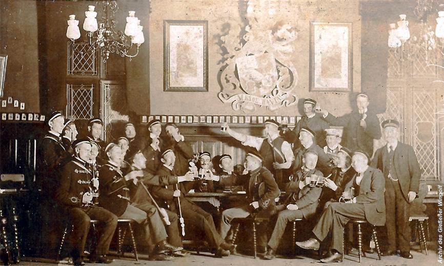 Giessener_Wingolf Kneipe des Gießener Wingolf um 1900