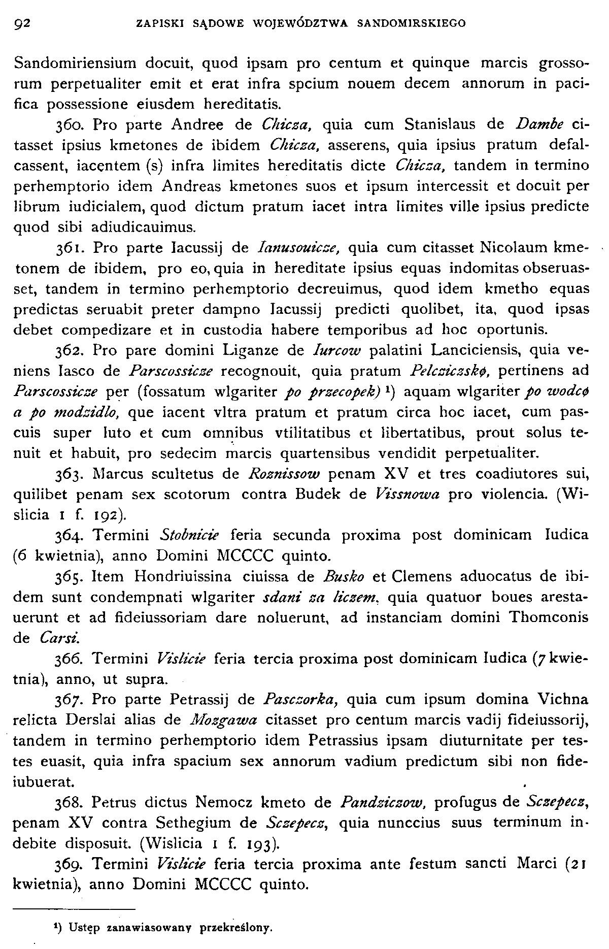 Zapiski sądowe województwa sandomierskiego